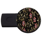 Floral Pattern Background USB Flash Drive Round (4 GB)  Front