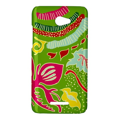 Green Organic Abstract HTC Butterfly X920E Hardshell Case