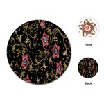 Floral Pattern Background Playing Cards (Round)  Front