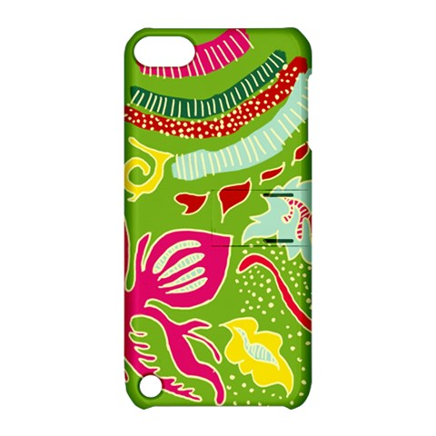 Green Organic Abstract Apple iPod Touch 5 Hardshell Case with Stand