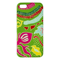 Green Organic Abstract Apple iPhone 5 Premium Hardshell Case