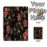 Floral Pattern Background Playing Cards 54 Designs  Front - Heart6