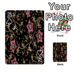 Floral Pattern Background Playing Cards 54 Designs  Front - Spade5