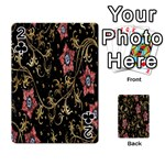 Floral Pattern Background Playing Cards 54 Designs  Front - Club2