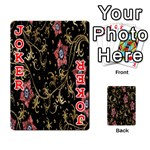 Floral Pattern Background Playing Cards 54 Designs  Front - Joker2