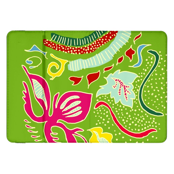 Green Organic Abstract Samsung Galaxy Tab 8.9  P7300 Flip Case