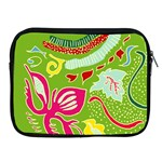 Green Organic Abstract Apple iPad 2/3/4 Zipper Cases Front