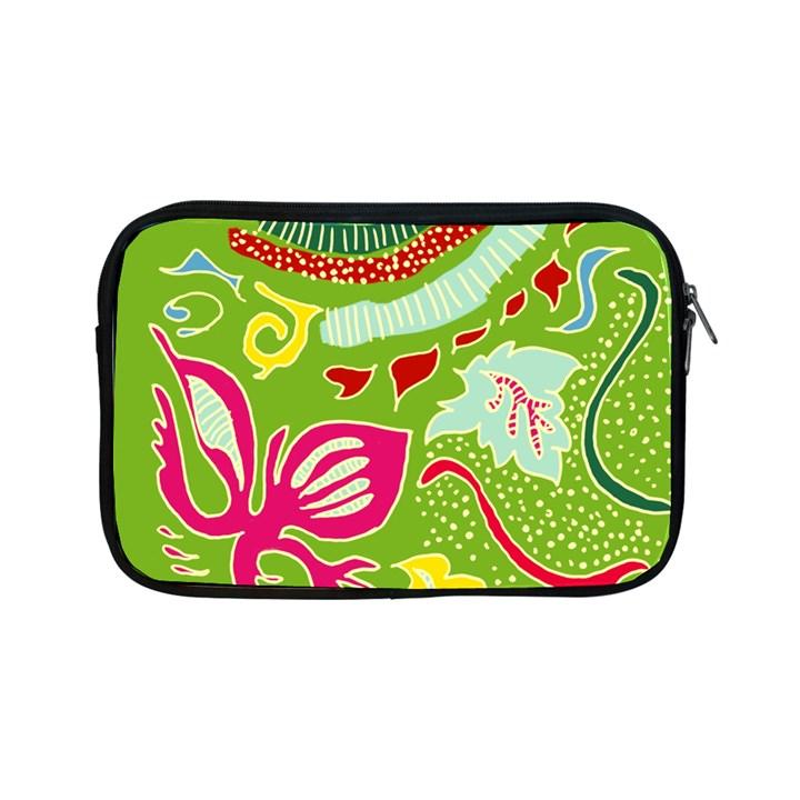 Green Organic Abstract Apple iPad Mini Zipper Cases