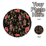 Floral Pattern Background Playing Cards 54 (Round)  Front - Heart4