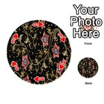 Floral Pattern Background Playing Cards 54 (Round)  Front - Heart9