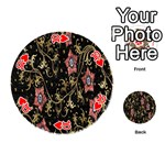 Floral Pattern Background Playing Cards 54 (Round)  Front - Heart10