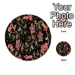 Floral Pattern Background Playing Cards 54 (Round)  Front - Diamond5