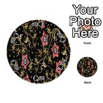 Floral Pattern Background Playing Cards 54 (Round)  Front - Spade5
