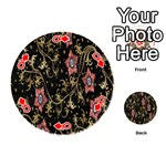 Floral Pattern Background Playing Cards 54 (Round)  Front - DiamondQ