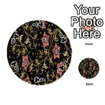 Floral Pattern Background Playing Cards 54 (Round)  Front - Club4