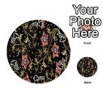 Floral Pattern Background Playing Cards 54 (Round)  Front - Club5