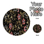 Floral Pattern Background Playing Cards 54 (Round)  Front - Spade7