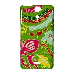 Green Organic Abstract Sony Xperia V