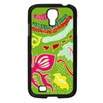 Green Organic Abstract Samsung Galaxy S4 I9500/ I9505 Case (Black) Front