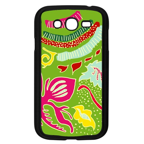 Green Organic Abstract Samsung Galaxy Grand DUOS I9082 Case (Black)
