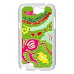 Green Organic Abstract Samsung Galaxy Note 2 Case (White) Front