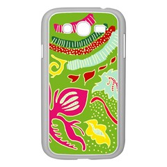 Green Organic Abstract Samsung Galaxy Grand Duos I9082 Case (white)