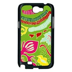 Green Organic Abstract Samsung Galaxy Note 2 Case (Black)