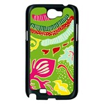 Green Organic Abstract Samsung Galaxy Note 2 Case (Black) Front