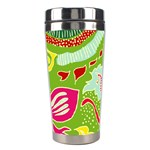 Green Organic Abstract Stainless Steel Travel Tumblers Center