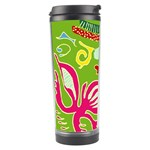 Green Organic Abstract Travel Tumbler Left