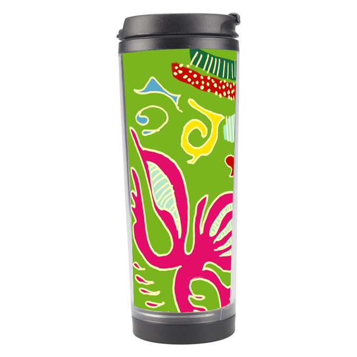 Green Organic Abstract Travel Tumbler