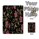 Floral Pattern Background Multi-purpose Cards (Rectangle)  Back 5