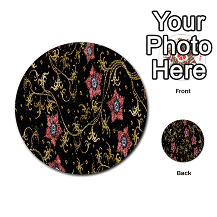 Floral Pattern Background Multi-purpose Cards (Round)