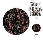 Floral Pattern Background Multi-purpose Cards (Round)  Back 12