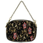 Floral Pattern Background Chain Purses (One Side)  Front