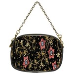 Floral Pattern Background Chain Purses (Two Sides)  Front