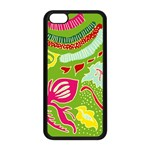Green Organic Abstract Apple iPhone 5C Seamless Case (Black) Front