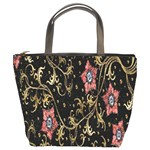 Floral Pattern Background Bucket Bags Front