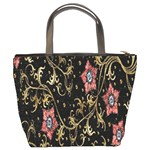 Floral Pattern Background Bucket Bags Back