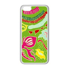 Green Organic Abstract Apple Iphone 5c Seamless Case (white)