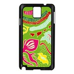 Green Organic Abstract Samsung Galaxy Note 3 N9005 Case (Black) Front