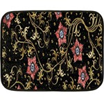 Floral Pattern Background Fleece Blanket (Mini) 35 x27 Blanket