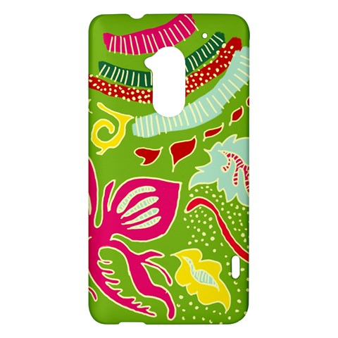 Green Organic Abstract HTC One Max (T6) Hardshell Case