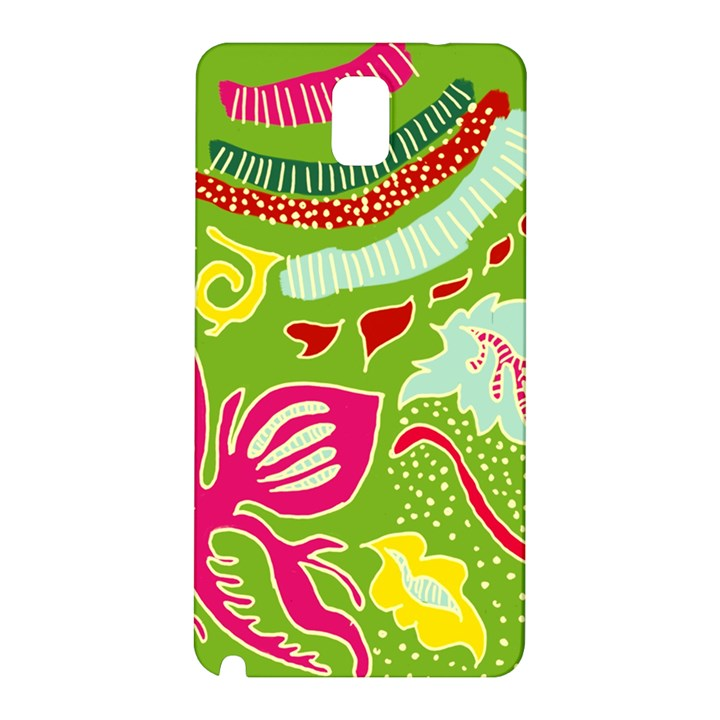 Green Organic Abstract Samsung Galaxy Note 3 N9005 Hardshell Back Case