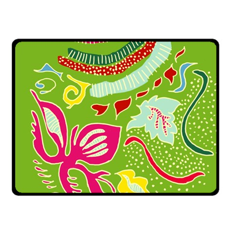 Green Organic Abstract Double Sided Fleece Blanket (Small)
