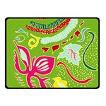 Green Organic Abstract Double Sided Fleece Blanket (Small)  50 x40 Blanket Back