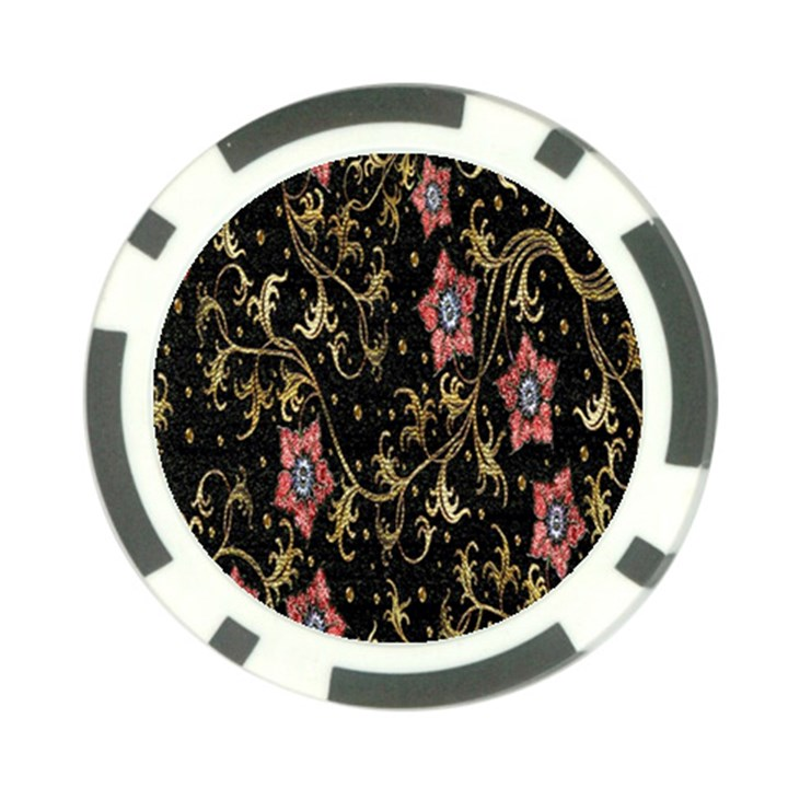 Floral Pattern Background Poker Chip Card Guards (10 pack)