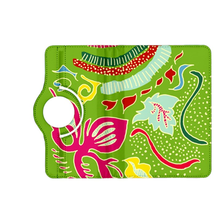 Green Organic Abstract Kindle Fire HD (2013) Flip 360 Case