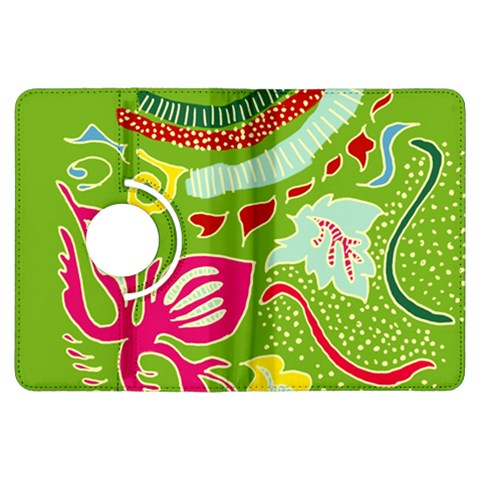 Green Organic Abstract Kindle Fire HDX Flip 360 Case