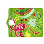Green Organic Abstract Kindle Fire HDX 8.9  Flip 360 Case Front